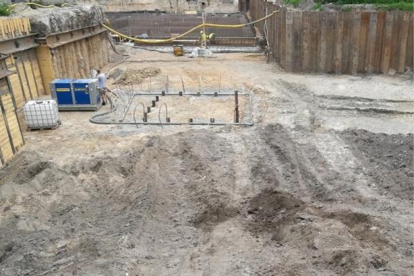 Pumping station installation